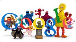 Logo de Google et personnages d'émission pour enfants