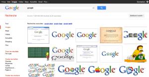 Résultats d'une recherche dans Google Image