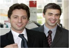 Larry Page et Sergey Brin, fondateurs de Google