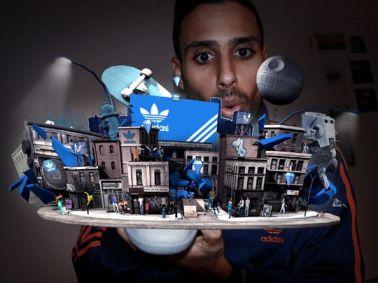 Image de l'application réalité augmentée pour les chaussures Adidas