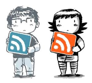 Un garçon et une fille tiennent chacun le logo des flux ras dans leurs bras
