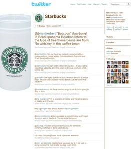 Beaucoup d'interactions avec Brad, le community manager de Starbucks