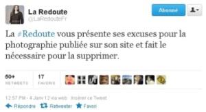 La Redoute s'excuse par le biais de son compte Twitter.